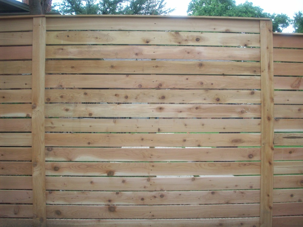Beautiful New Horizontal Fence Pannel