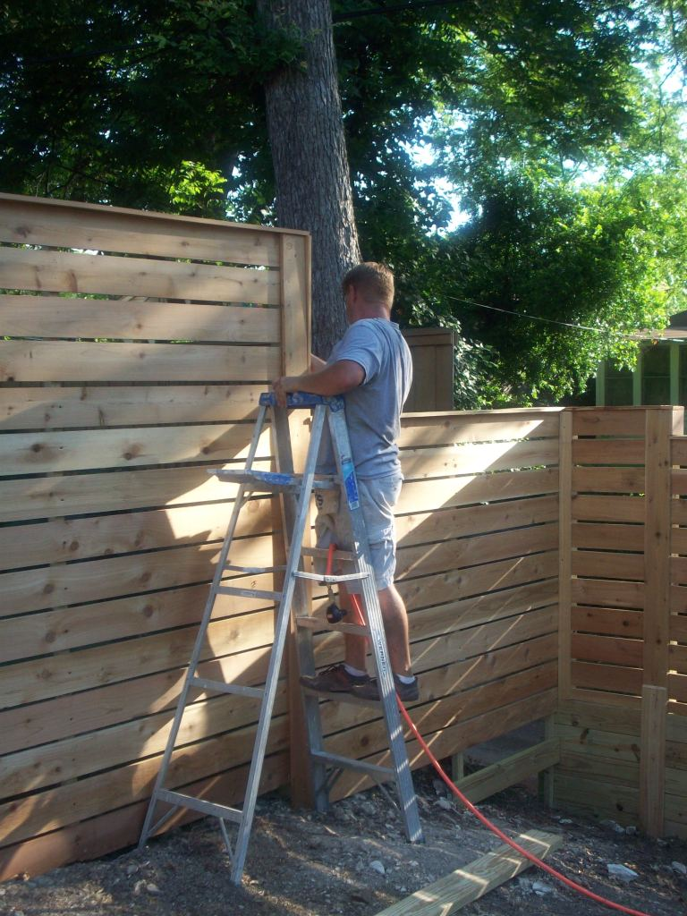 Jack Putting Some Finishing Touches on the Fence