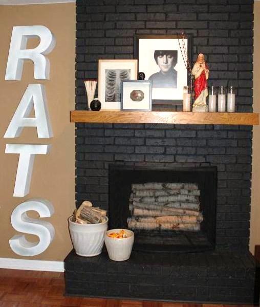 RATS next to Fireplace