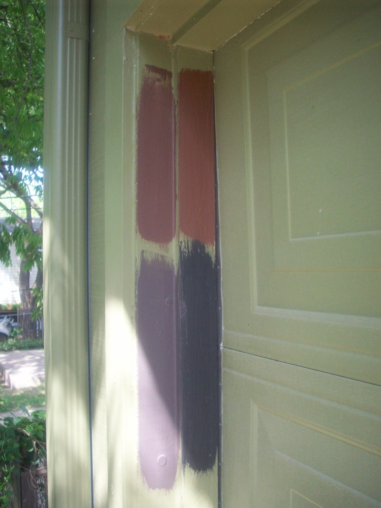 Chocolate Brown Garage Door  (1/3)