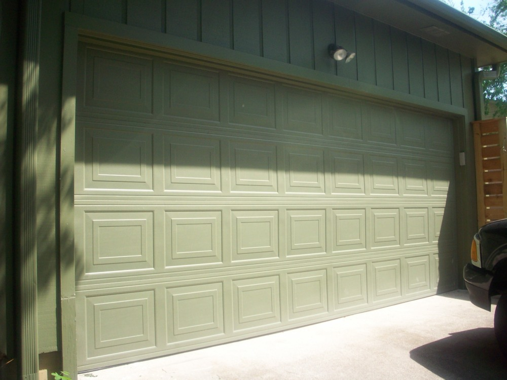 Chocolate Brown Garage Door  (2/3)
