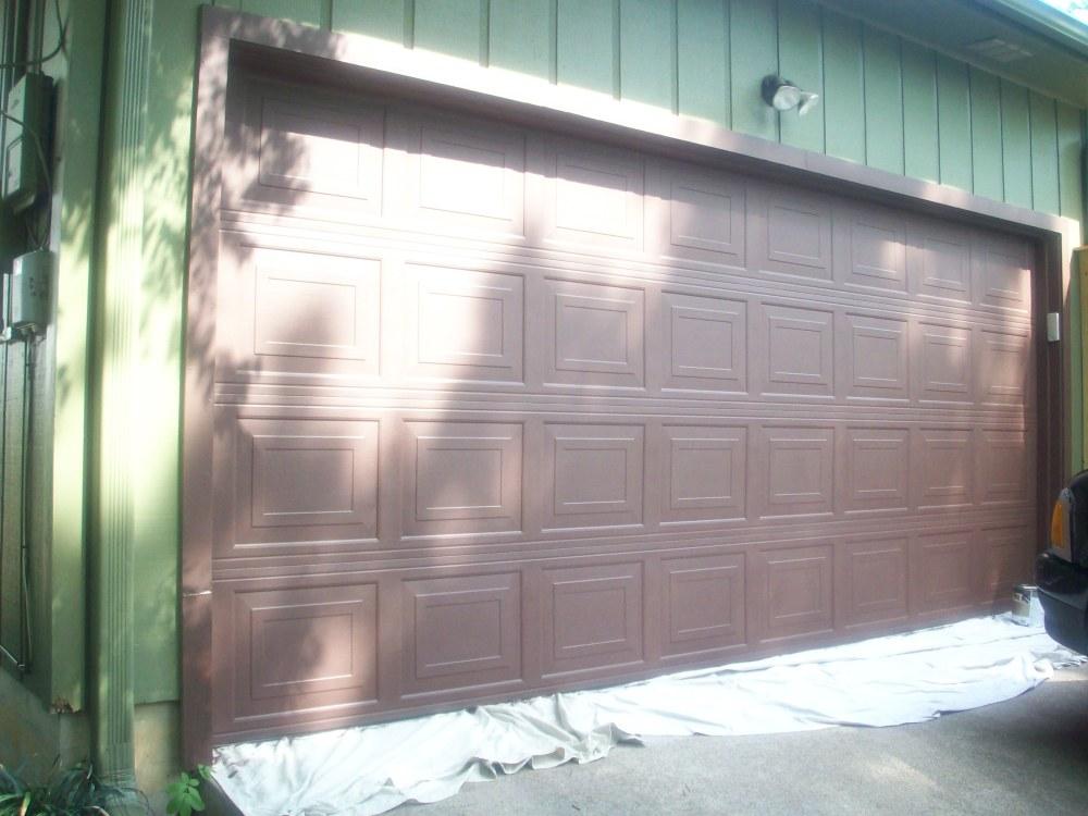 Chocolate Brown Garage Door  (3/3)