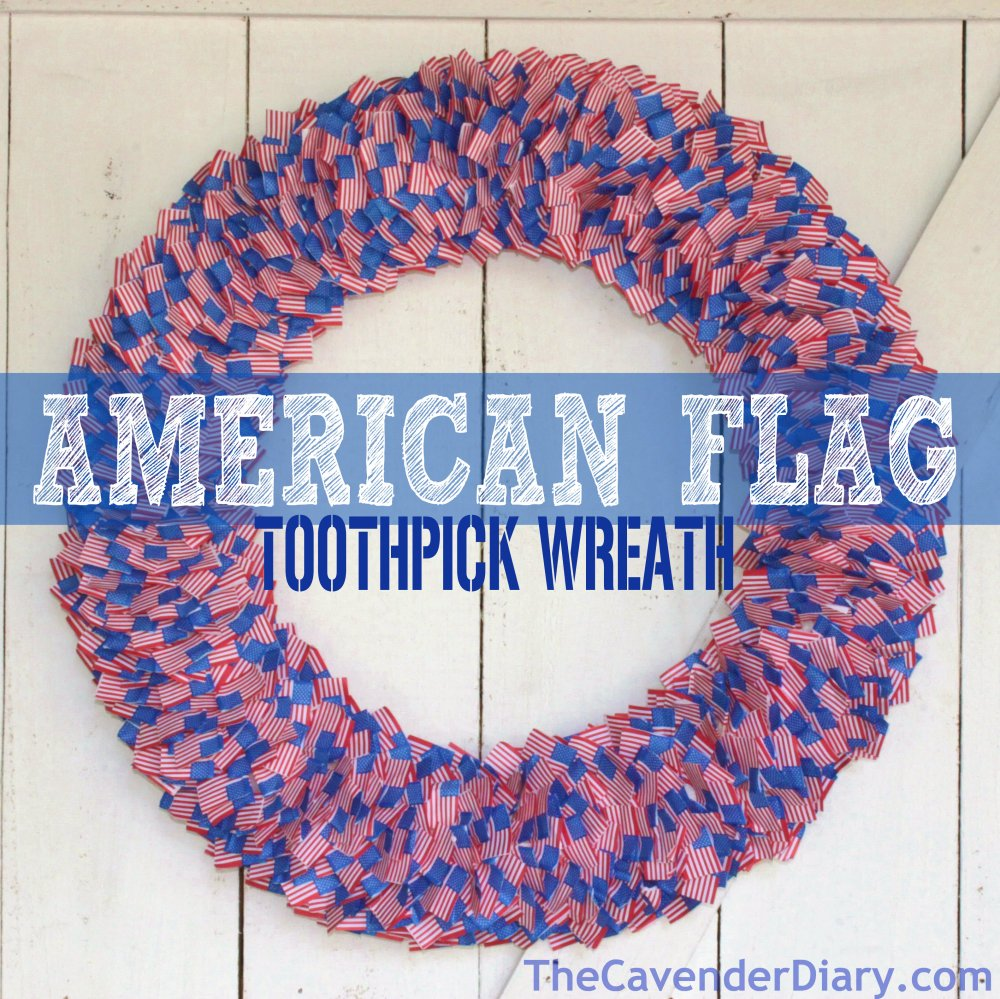 American Flag Toothpick Wreath from the Cavender Diary Boys