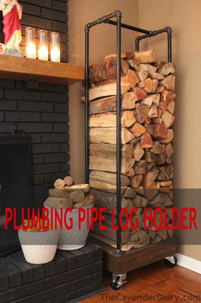 DIY Rolling Firewood Holder Made From Plumbing Pipes by the Cavender Diary Boys