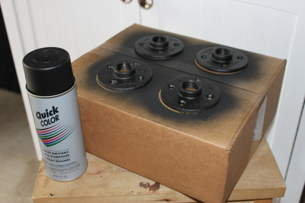 Spray the Flanges Black with 99 Cent Black Sparay Paint