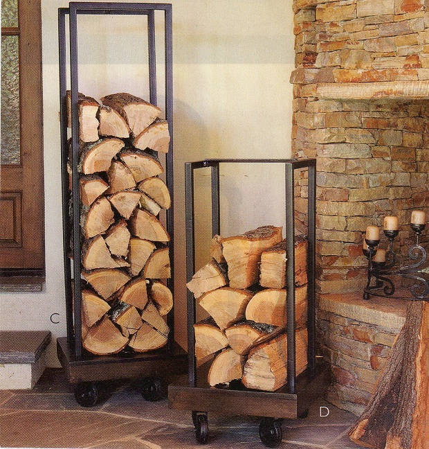 diy log rack