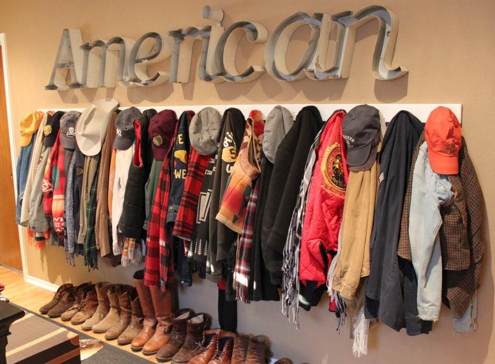 American Over Coat Rack in Master Bedroom
