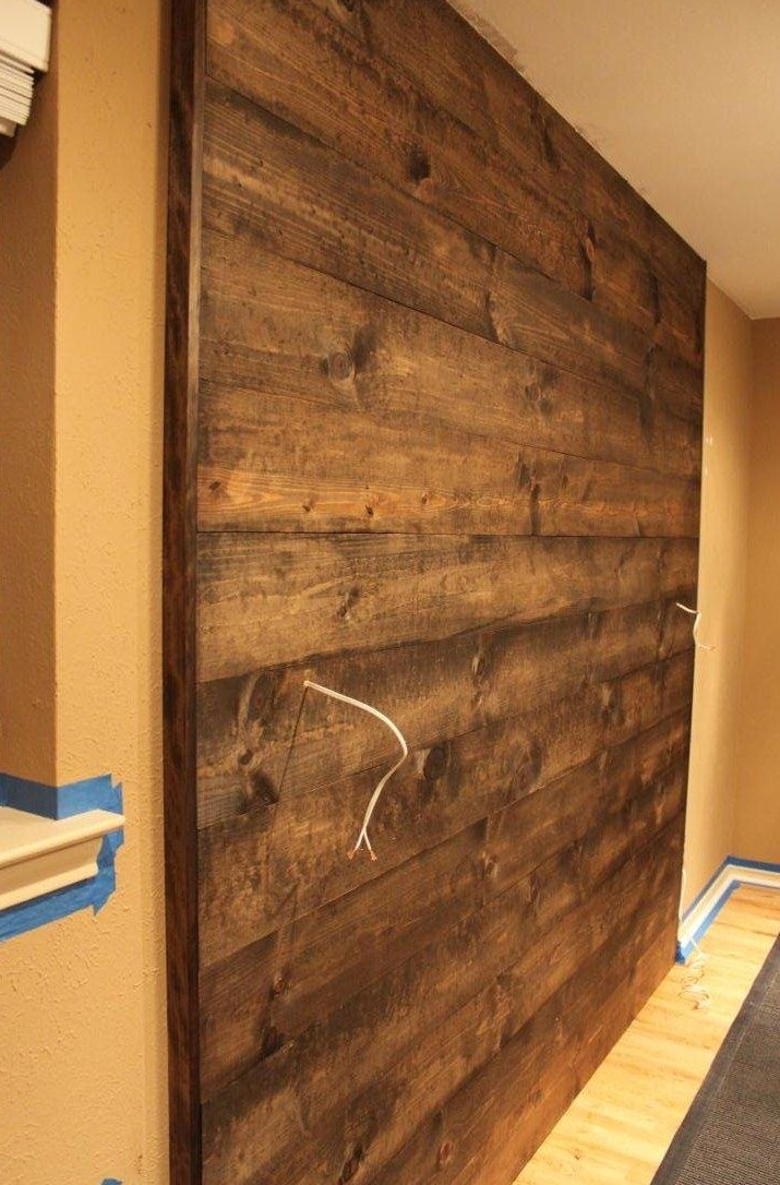 Wooden Wall Boards : Wood wall completed the cavender diary