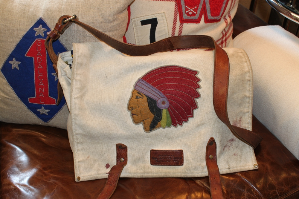 RL Rugby Bag with Inidan Head Patch