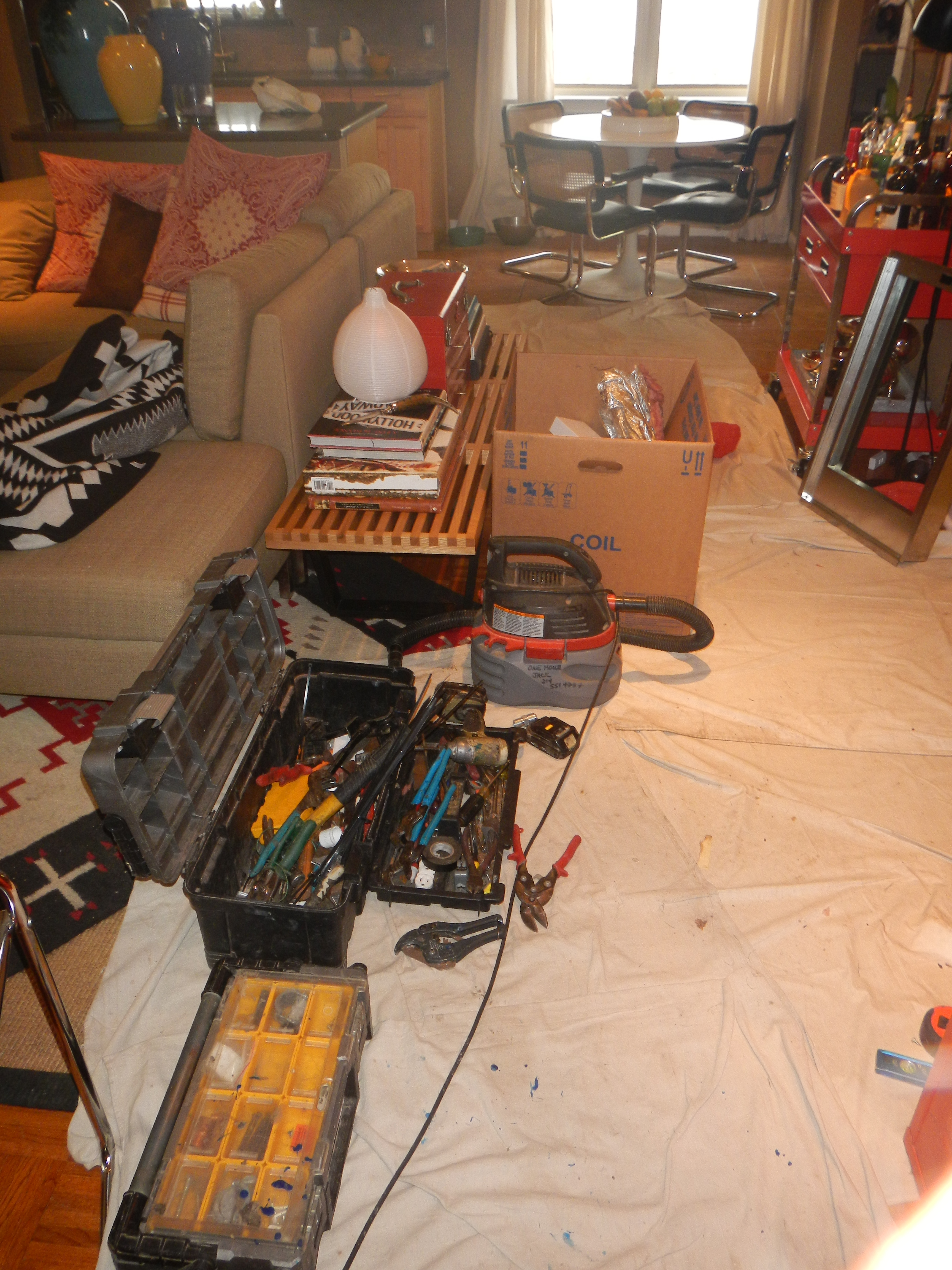 Electrical Work The Cavender Diary Wiring A House Recall But Guys Had To Install New Heater And Blowerit Took All Day