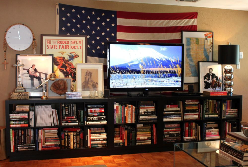 Finished Console with Big Flag/TV