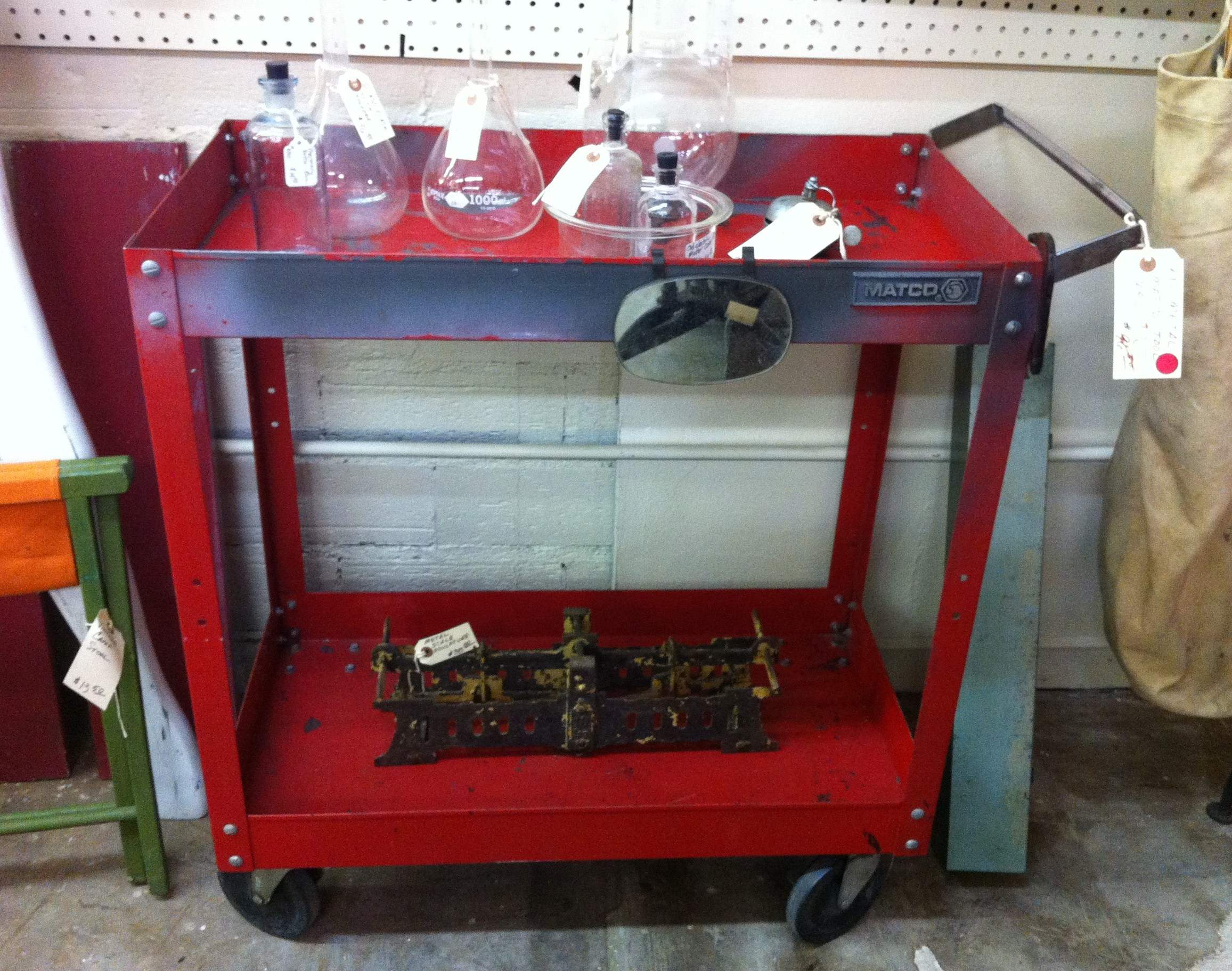Vintage Metal Bar Cart The Cavender Diary