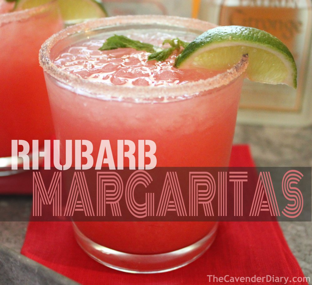 Rhubarb Margaritas from the Cavender Boys