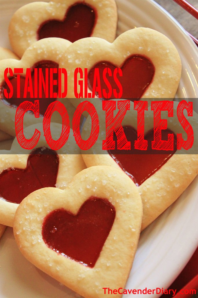 Stained Glass Heart Cookies from the Cavender Diary