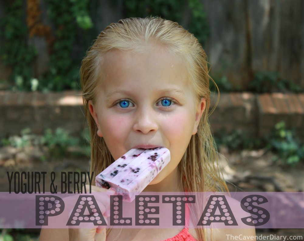 Yogurt and Berry Paletas from the Cavender Diary
