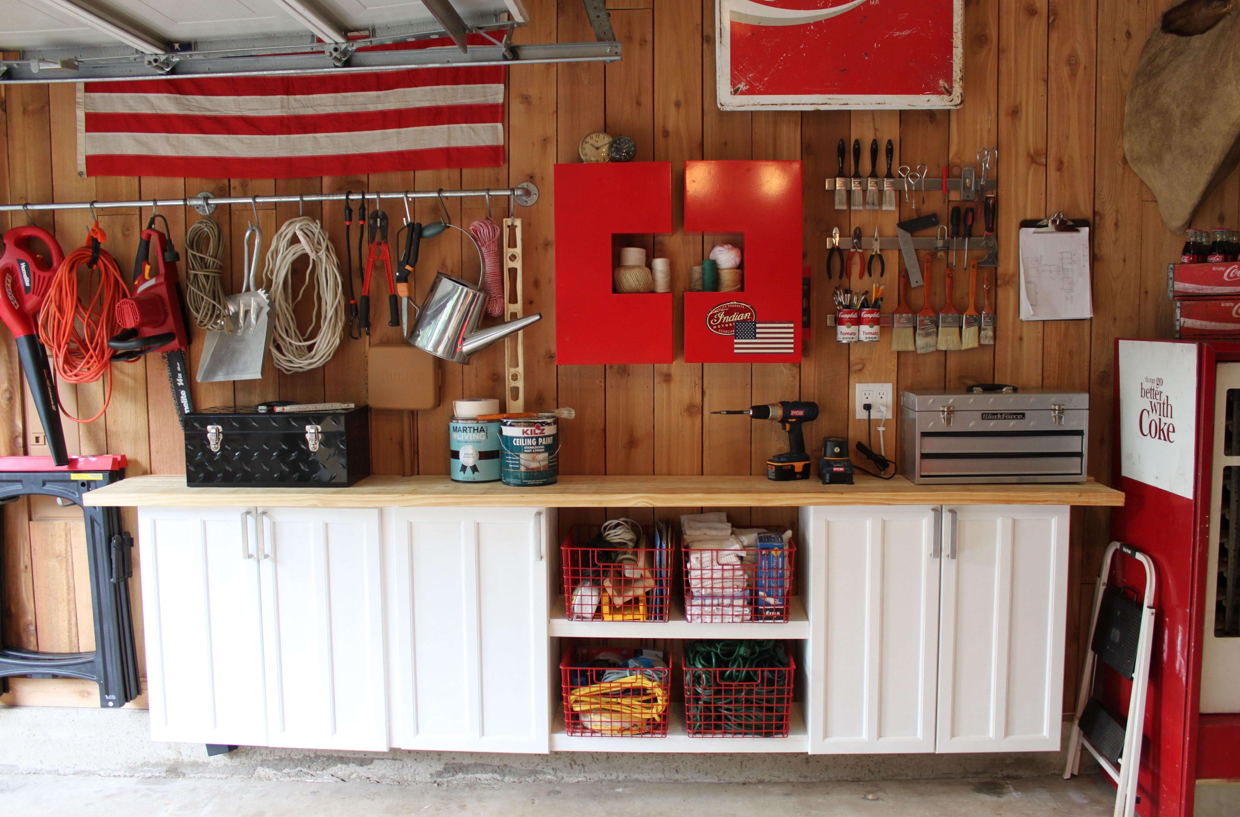 Old kitchen cabinets garage - Here