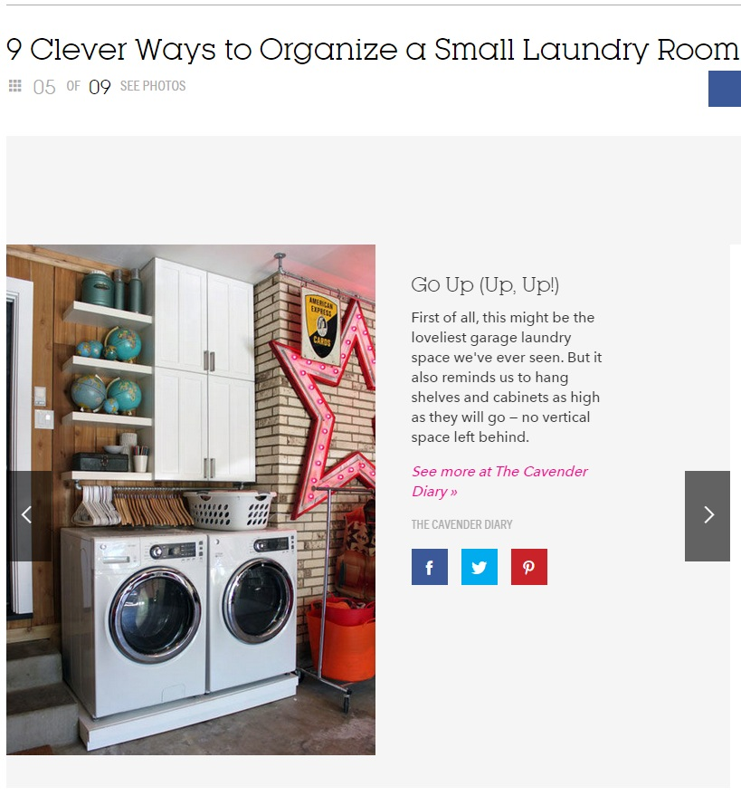 Our Laundry Space on Good Housekeeping
