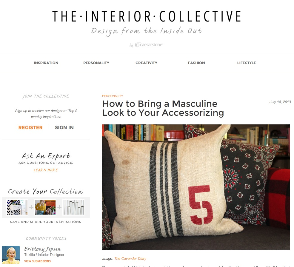 The Interior Collective - Masculine Look