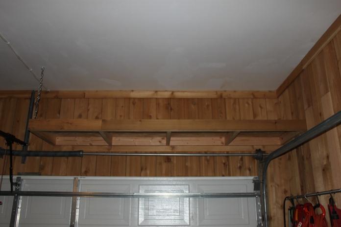 Above Garage Door Storage Racks