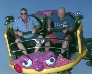 James and JAmie on the Crazy Mouse 2011