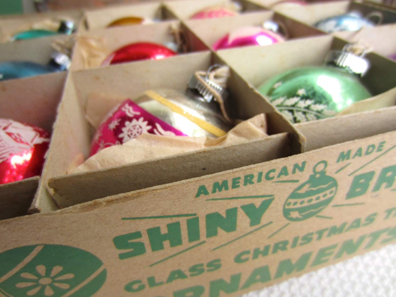 the - Vintage Shiny Brite Christmas Ornaments