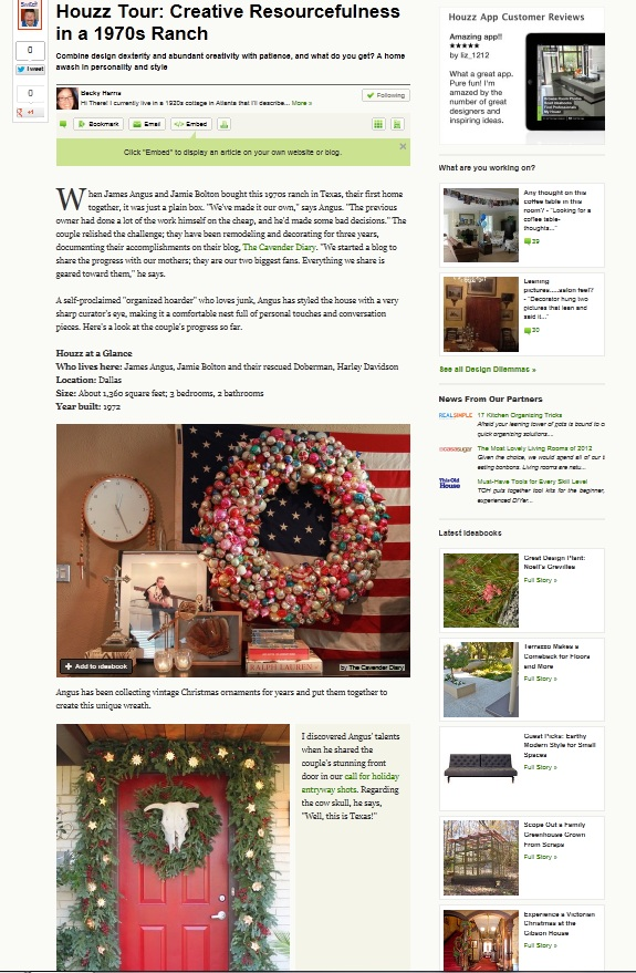 Creative Resourcefullness feature on HOUZZ