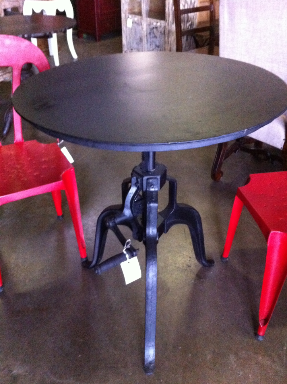 Hand Crank Cafe Table