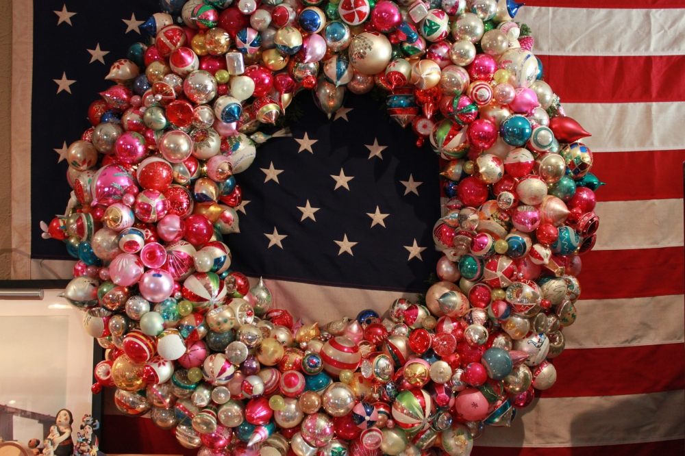 Close Up of Big Ornament Wreath