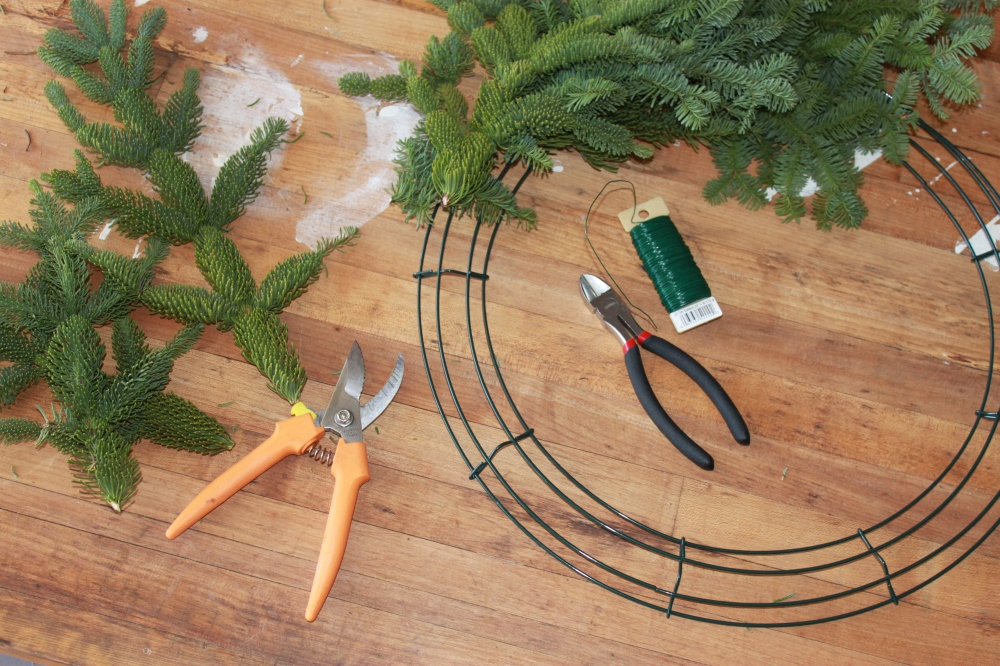 Snips and Wire Wreath Form