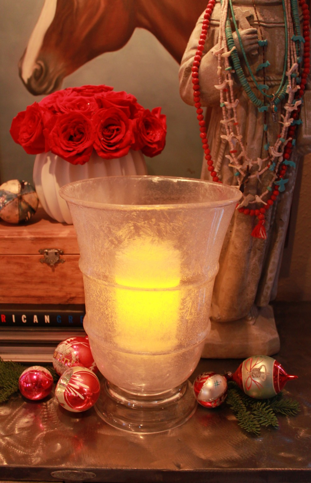 Hurricane with Crystal Frost and Candle