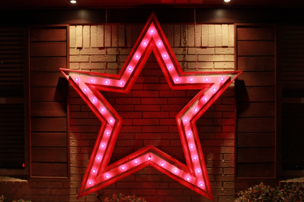 Red Star at Night