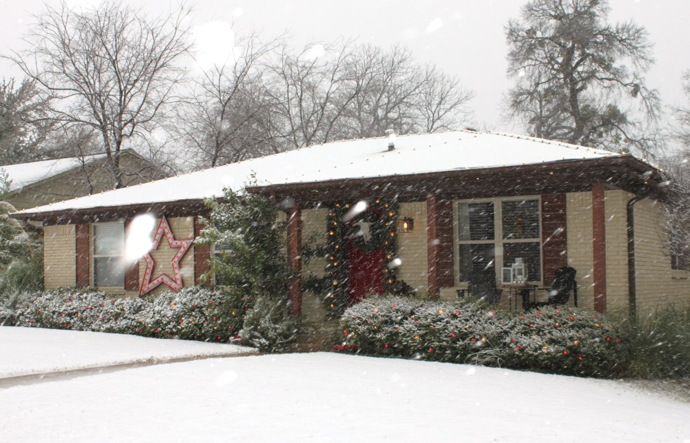 Still More Snow Coming Down on the Cavender house