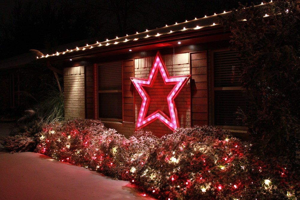 Big Red Star in the Snow