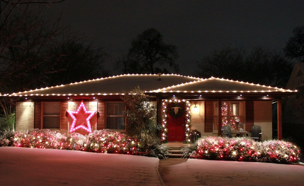 Snow and Lights on the Cavender House