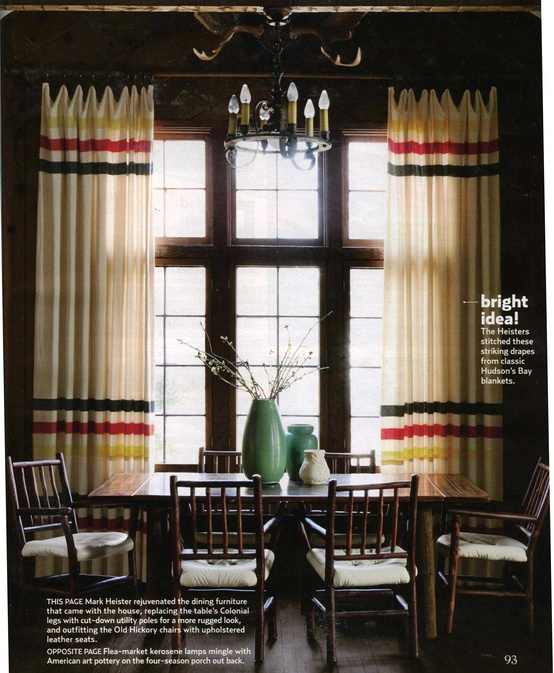 Blankets as window coverings