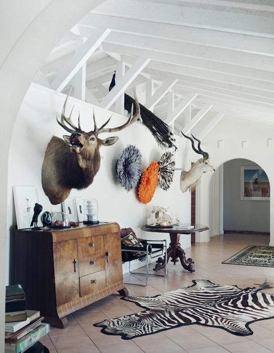 Elk and Zebra Rug