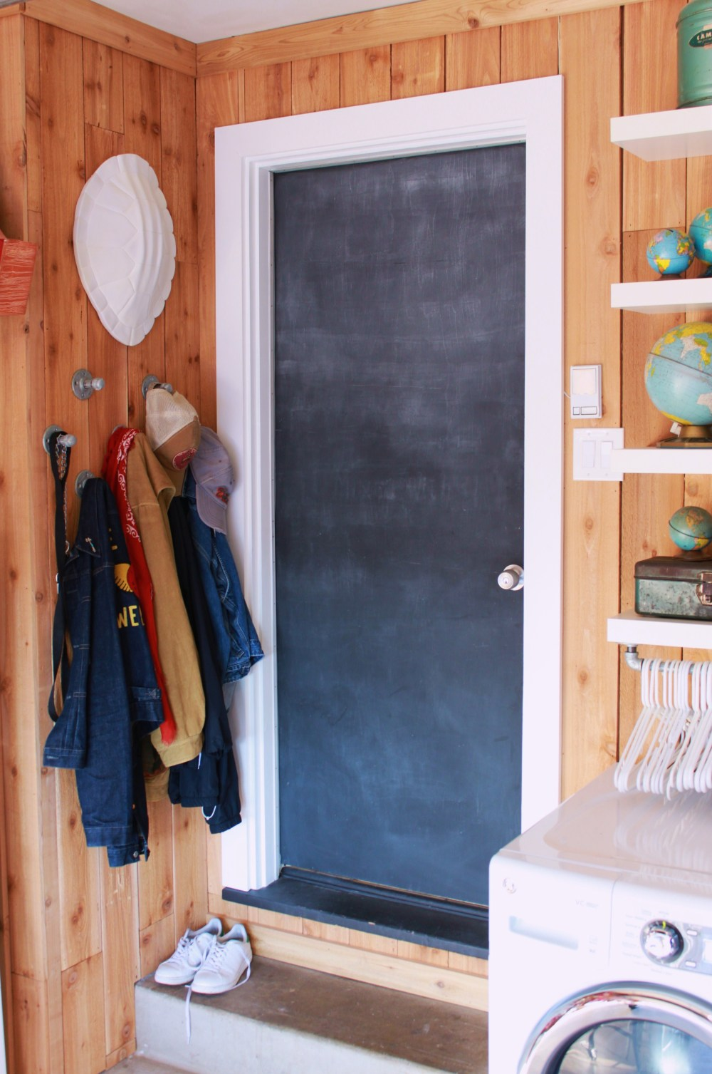 Finished Chalk Board Door in the Garage