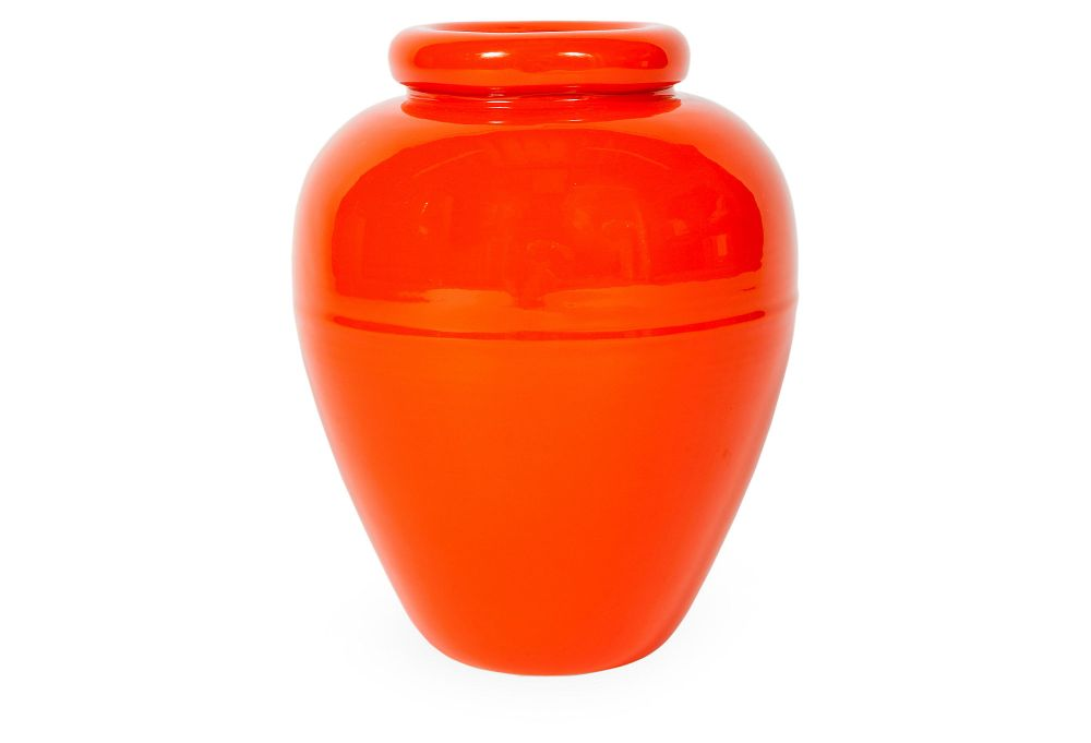 Orange Bauer Oil Jar