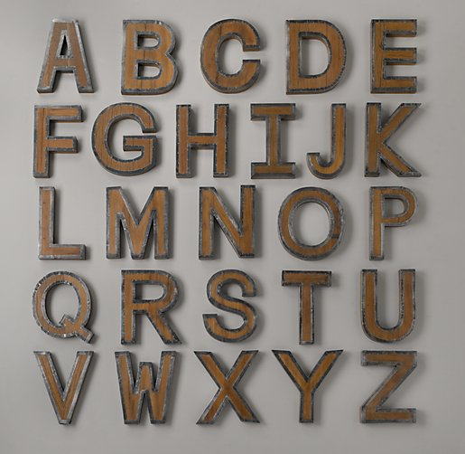 Cheap Metal Letters For Wall Prepossessing January  2013  The Cavender Diary Inspiration Design