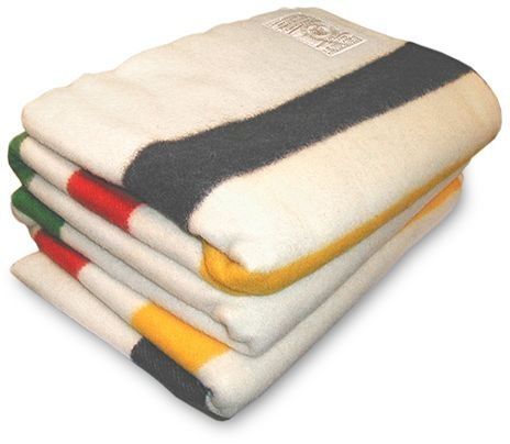 Stack of Hudson's Bay Blankets