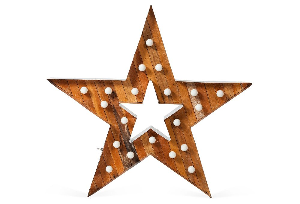 Wood and Metal Marque Star
