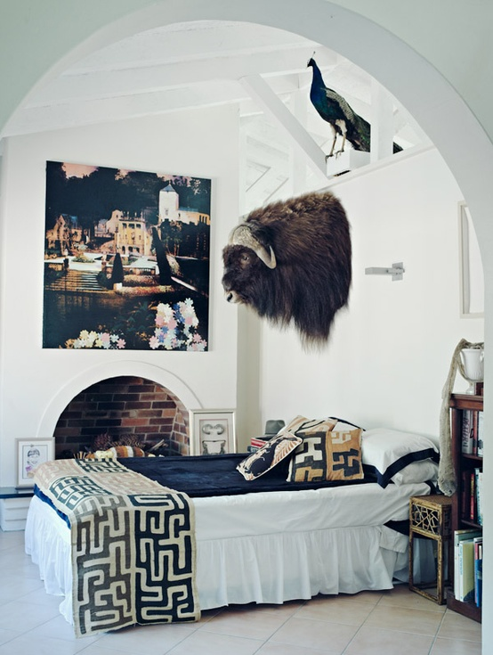 Yack and Peacock over the Bed