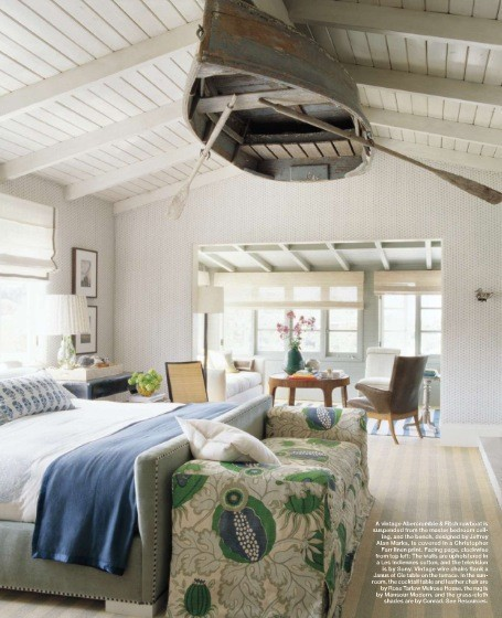 White Bedroom with Abercrombie Vintage Row Boat