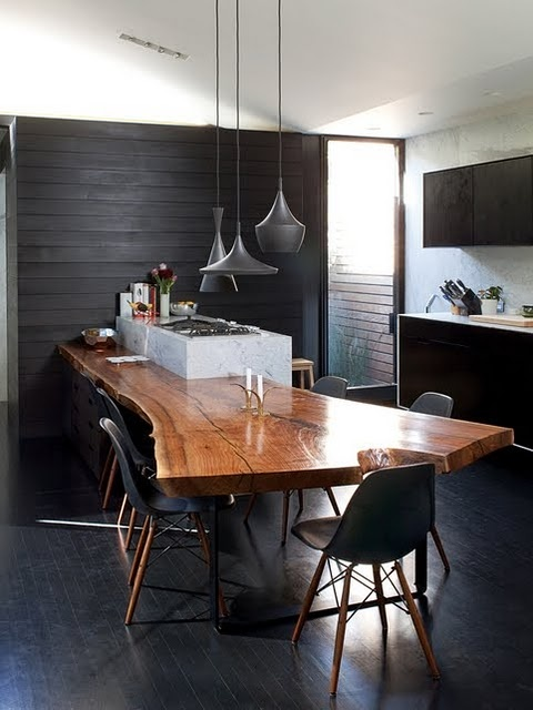 Black paint walls the cavender diary for Kitchen black wall