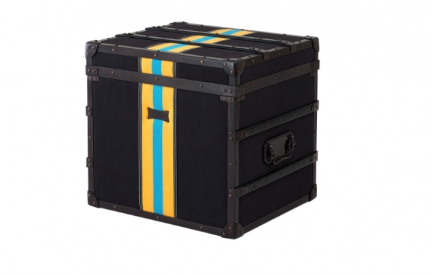 Black Trunk with Awesome Stripes