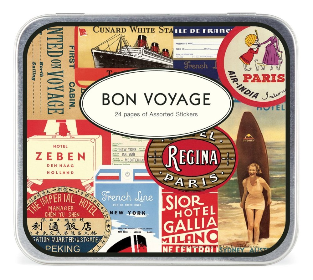 Cavallini Bon Voyage Travel Stickers