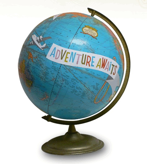 Adventure Awaits Globe