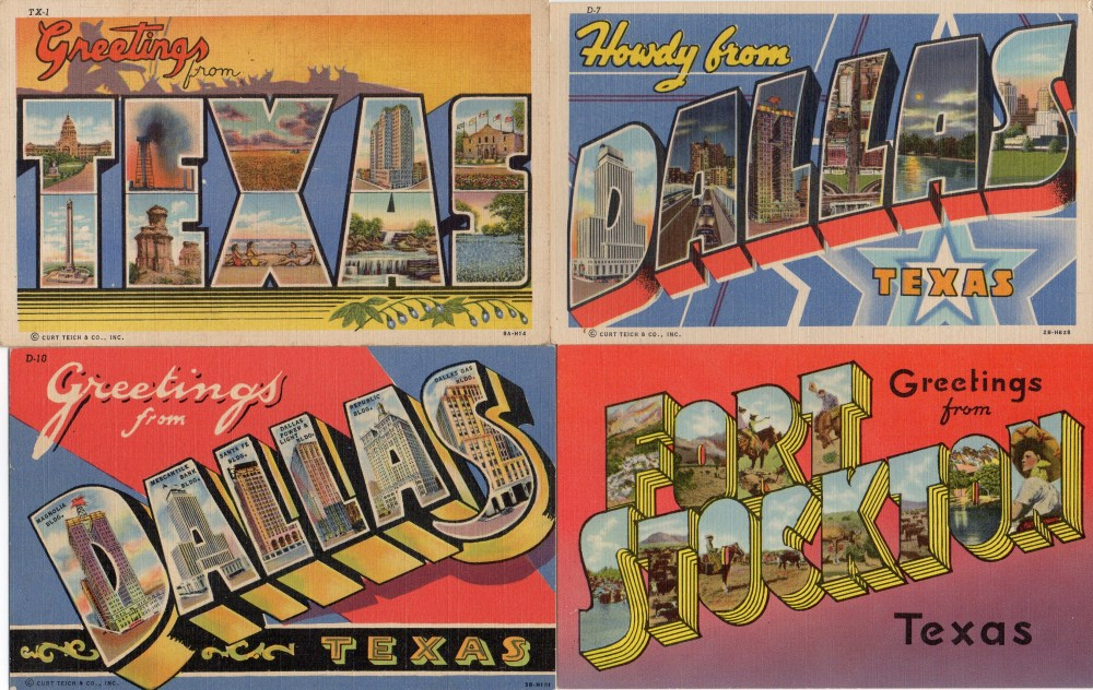 Vintage Linen Texas Postcards 2