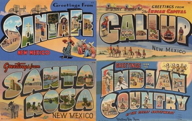 Vinatge Linen New Mexico Postcards 2