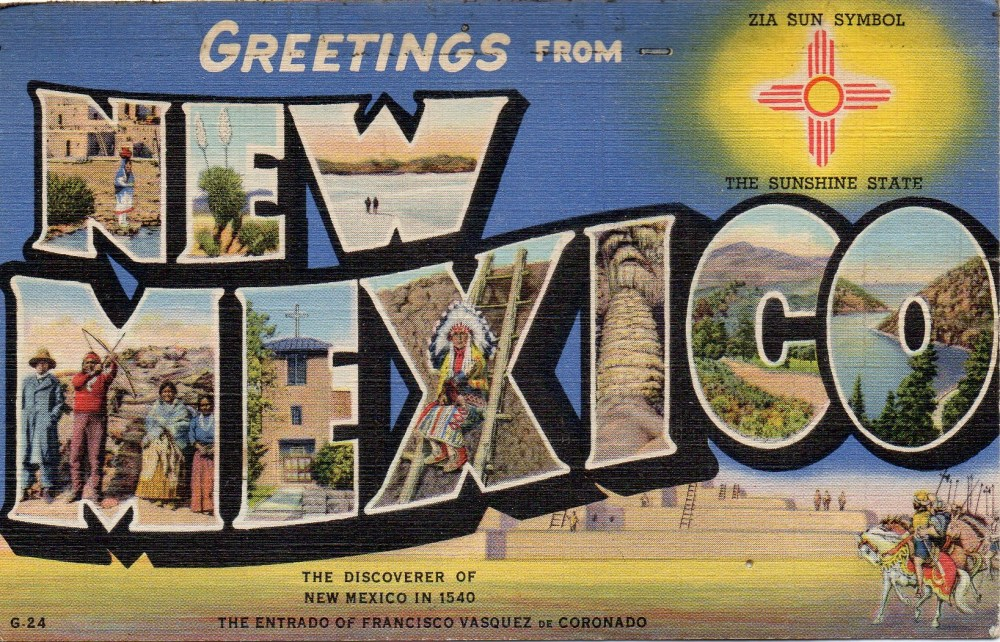 New Mexico Large Letter Postcard